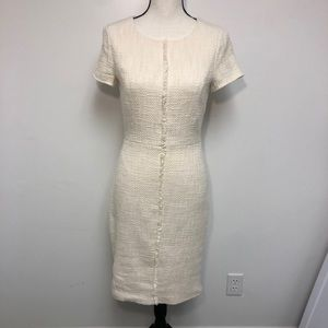 DE Collection Cream Tweed Dress Size Small